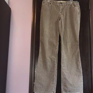 Ann Taylor loft greenish gray corduroy pants. 12